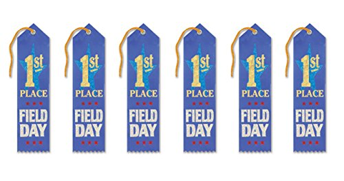Beistle AR151 1st Place Field Day Award Ribbons, 2 by 8-Inch, (Field Day Ribbon)