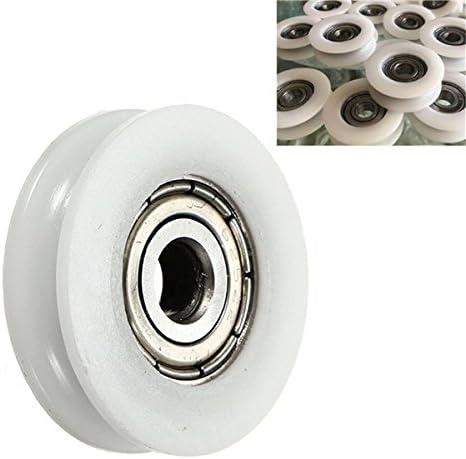 3.8 mm ロープのボールベアリングのための Queenwind 5x24x7mm の U 溝のナイロン円形の滑車の車輪のローラー