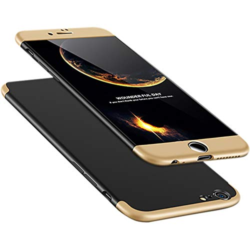 A Trading iPhone 6 Plus Case, Ultra-Thin PC Hard Case Cover For iPhone 6 Plus (Gold+Black+Gold)