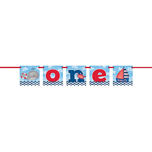 4ft One Nautical Boys 1st Birthday (Nautical First Birthday Supplies)