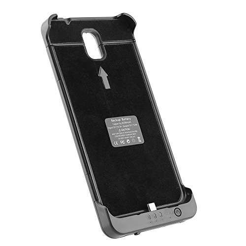 {Factory Direct Sale} Latest Hi-tech 4200mAh Backup Battery Case Charging for Samsung Galaxy Note 3 (Black)