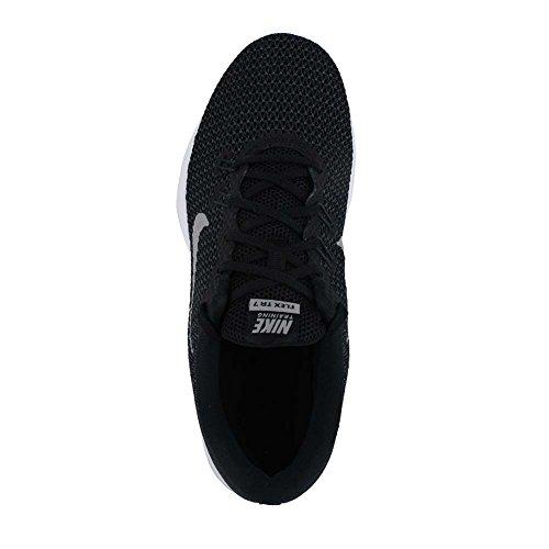 Nike Frauen Flex Trainer 5 Schuh Schwarz / Metallic Silber / Anthrazit / Weiß