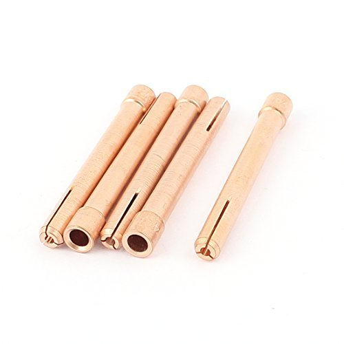 TIG WP18 argon soudage  l'arc torche contact Conseils 2.0mm 5pcs Copper Tone