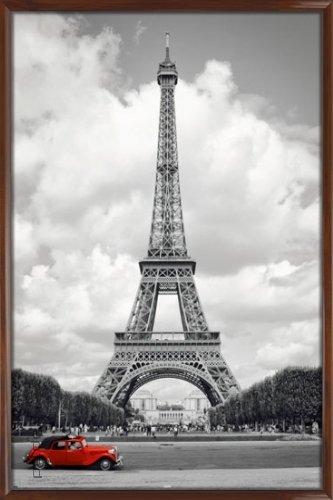 Paris - Red Car Poster, 61x92 posterdepot
