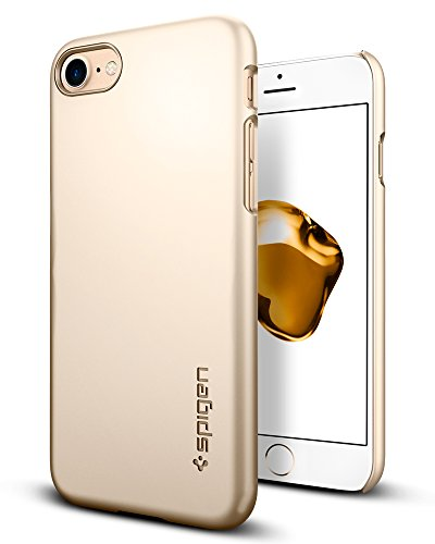 Spigen Thin Fit Designed for Apple iPhone 8 Case (2017) / Designed for iPhone 7 Case (2016) - Champagne Gold