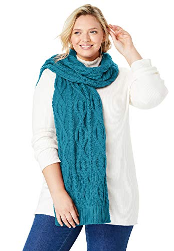 Women's Woman Within Plus Size Cable Knit Scarf