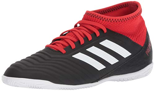 adidas Unisex Predator Tango 18.3 Indoor Soccer Shoe, Black/White/red, 1.5 M US Little Kid