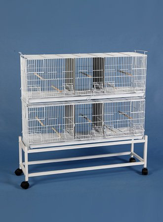 COMBO: EXTRA LARGE Stack and Lock Double Dividers Breeder Cage Bird Breeding Cage With Removable Divider And Breeder Doors 2 Of 38