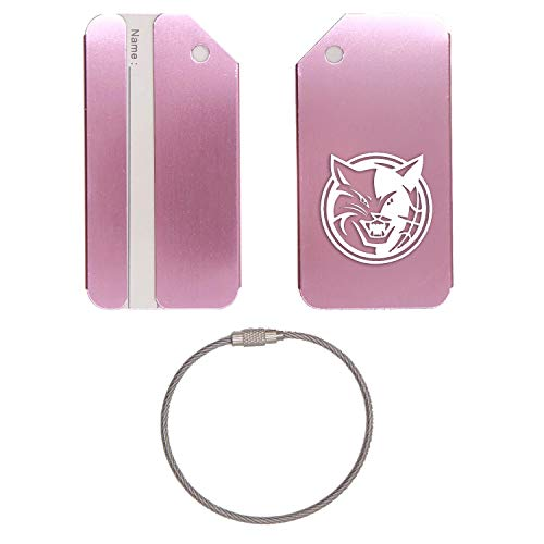 - NBA Charlotte Bobcats STAINLESS STEEL - ENGRAVED LUGGAGE TAG - SET OF 2 (ROSE GOLD) - FOR ANY TYPE OF LUGGAGE, SUITCASES, GYM BAGS, BRIEFCASES, GOLF BAGS