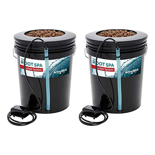 Active Aqua RS5GALSYS Root Spa 5 Gallon Hydroponic Bucket Grow Kit...