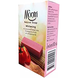 3 Bars soap of Natural Soap Whitening Formula. Helps Cleansing Impurities and Deep Cleanses the Skin. By Dr.montri Brand. (80 G/ bar soap)