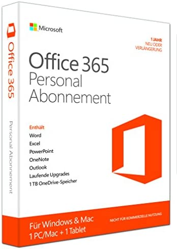 Microsoft Office 365 Personal - Suites de programas (1366 x 768 Pixeles, DEU, Windows 7 Home Basic, Windows 7 Home Basic x64, Windows 7 Home Premium, Windows 7 Home Premium x64, ,