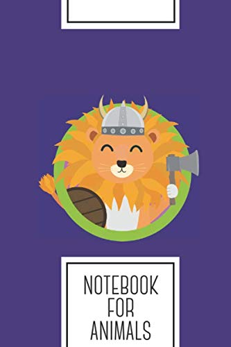 (Notebook for Animals: Lined Journal with Viking lion with circle Design - Cool Gift for a friend or family who loves africa presents! | 6x9
