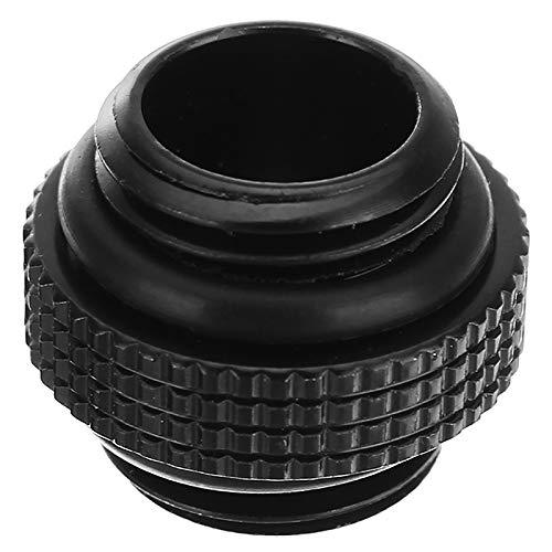 ACAMPTAR 2 Unids G1 4 Rosca Externa Macho A Macho Refrigeraci/ón por Agua Giratorio Adecuado Adaptador Conector de Refrigeraci/ón por Agua Componentes del Radiador Negro