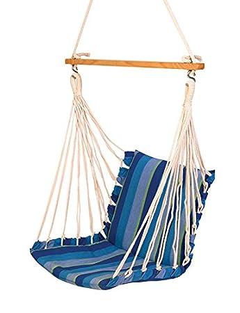 Hangit Cotton Swing Chair (Ocean Blue, 50 Centimeters)