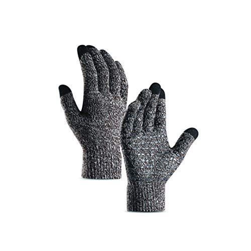 1.ThermoSoft TouchScreen - Non-slip - Knit Winter Gloves for Women Men Unisex With Warm Thermal Lining (Blush)