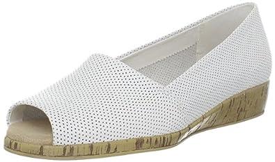 Aerosoles Women's Sprig Break Wedge Sandal,White Leather,10.5 ...