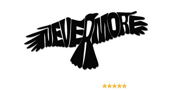 Home & Garden Poe Raven Nevermore Wings Vinyl Decal Car Wall ...