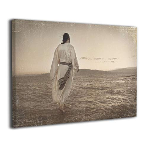 - CLLWGH Paintings Wall Art Jesus Walking On Water Modern Decorations for Living Room Bedroom Bathroom Home Decor for Living Room