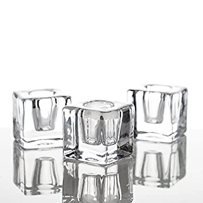 Richland Square Glass Taper Candle Holder