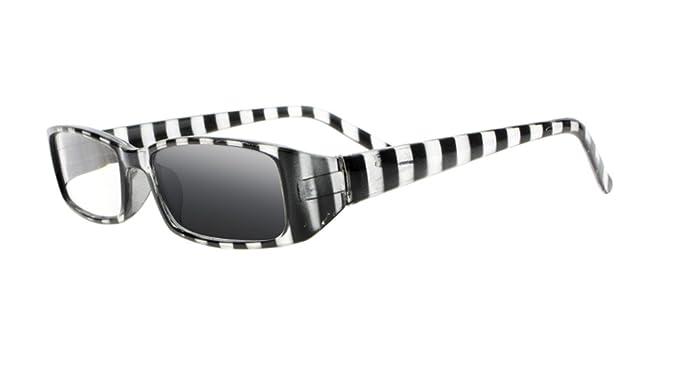 39e1f1dc809 Transition Photochromic Sun Reading Glasses Readers Stylish Colorful Stripe  Arms UV400 Sunglasses (Black