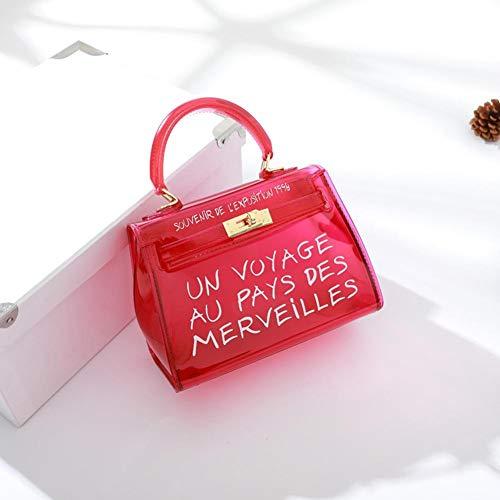 Bolsa Eginvic Nueva Bolso Coreana Transparente De Jalea Paquete Caramelo Rojo Versión Color Gran Salvaje Messenger Del Capacidad drqrwHI