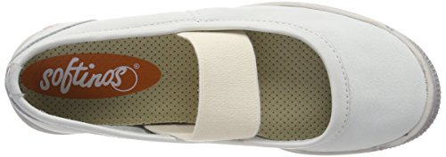 Chiusa Ballerine Ion446sof Donna Softinos Smooth Bianco Punta BEnIBcWpq