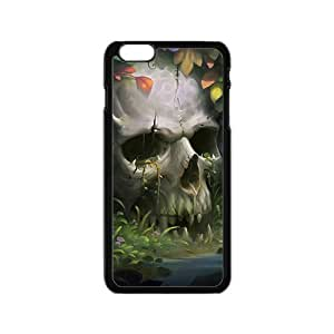 Beautiful flowers and white skull Phone Case for iPhone 6
