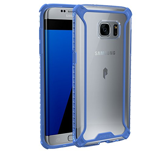 Galaxy S7 Edge Case, POETIC [Affinity Series] [Premium Thin][Corner Protection]No Bulk/Protection where its needed/Dual Material Protective Bumper Case for Samsung Galaxy S7 Edge Blue/Clear