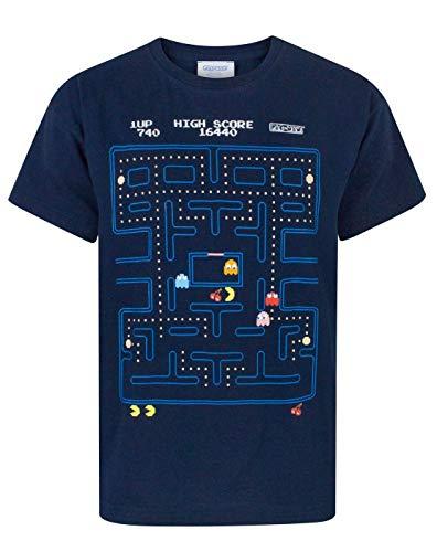 Pacman Classic Action Scene Boy's T-Shirt (9-10