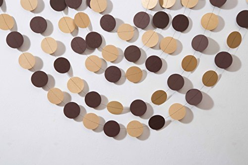 Boston Creative company Kraft & Brown Garland Brown Party Decor Paper Garland Rustic Wedding Garland Birthday Party Decor Circle Garland -