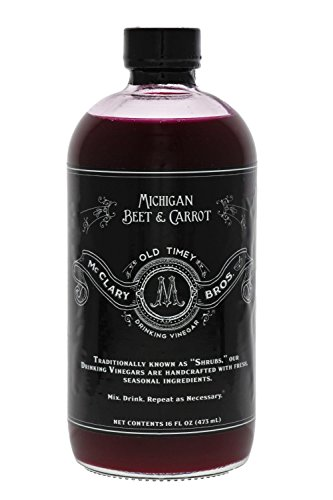 McClary Bros Michigan Beet and Carrot Handcrafted Drinking Vinegars For Cooking Craft Sodas and Shrub Cocktails