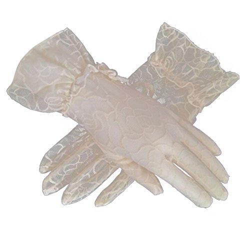 Women's Bridal Wedding Lace Gloves Derby Tea Party Gloves Victorian Gothic Costumes Gloves (Beige) ()
