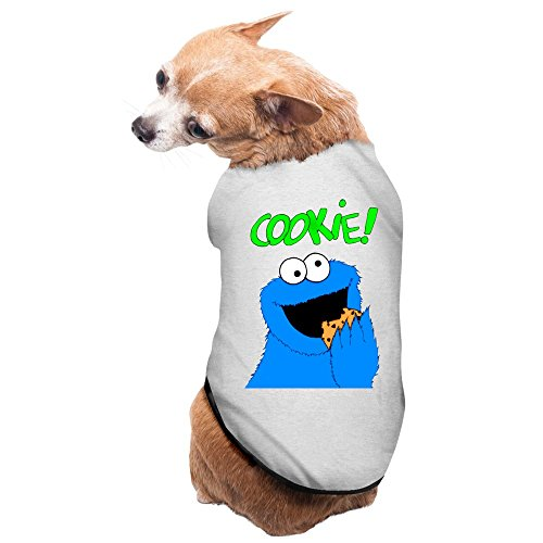 Zac Power Costume (Aip-Yep New Style Sesame Street Cookie Pet Doggy Pets Costumes Gray Size S)