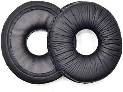 2 Pairs Black Ear pad Cushion for Technics RP-DJ1200 DJ 1200 DJ1210 DJ 1210 DJ Headphones