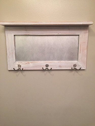 entryway shelf, coat rack, galvanized metal, wood shelf, metal shelf, Rustic Shelf, chippy paint by Country Corner Goods (Image #2)