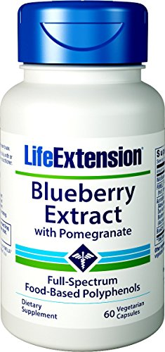 Life Extension Blueberry Extract w/Pomegranate, 60 Vegetarian Capsules