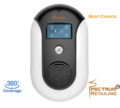 - New 2018 Electronic Ultrasonic Electromagnetic Pest Repellent Effective Indoor & Outdoor Plug-In Pest Repeller Get Rid of Squirrel Spider Rat Mice Bat BedBug Roaches Bee Fly Flea Ant Rodent & Mosquito