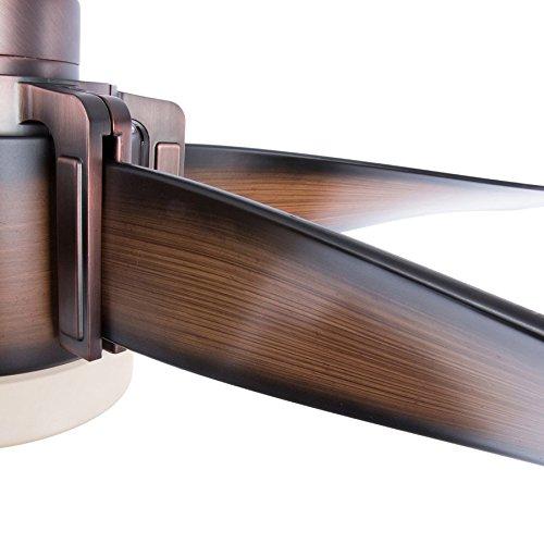 Walnut Downrod Mount Fan with LED Light Kit