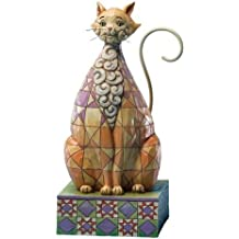 Jim Shore Heartwood Creek Cat with Checkered Pattern Figurine, 7-Inch by Jim Shore Heartwood Creek