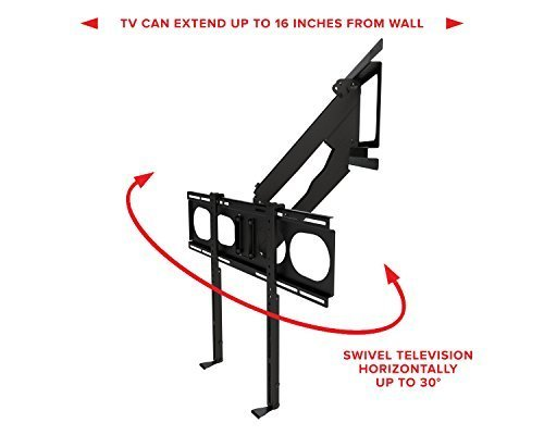 MantelMount MM340 Pull Down Fireplace TV Mount For 44''-80'' TVs Above Mantel by MantelMount (Image #5)