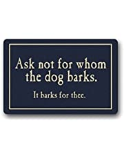 Ask Not For Whom The Dog Barks Doormat Carpet Machine-washable By KoaWin