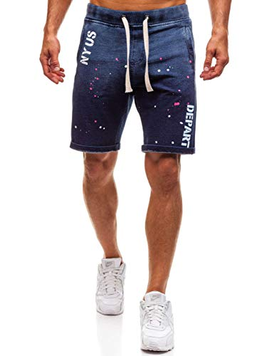 ex03 Sportivo – Stampe Stile Con Pantaloncini 7g7 Corti Bolf Blu Da Uomo x7qAFwWp
