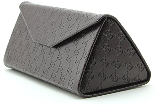 Gucci Tri-fold Leather Glasses Sunglasses Case w/Cleaning Cloth, - Case Gucci Sunglasses