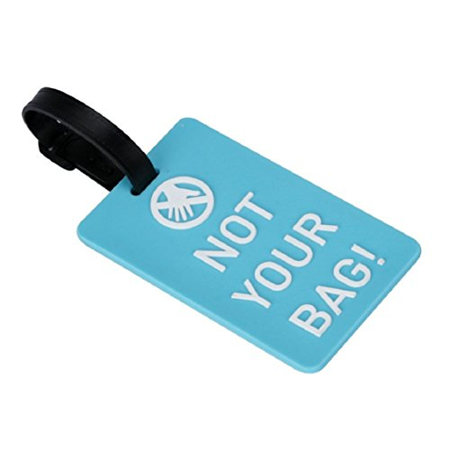 (Ikevan Hot Selling Newest Suitcase Luggage Tags ID Address Holder Silicone Cute Colorful Identifier Label (Blue))