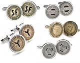 Tokens & Icons Chicago Transit System Token Sterling Silver Settings Cufflinks (55C)