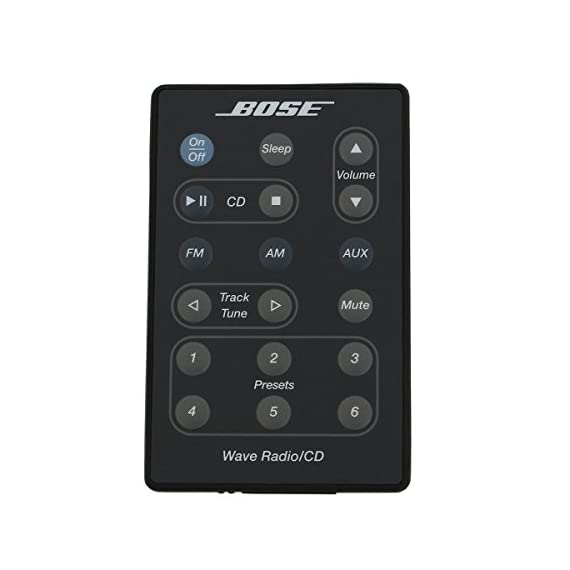 Bose Wave Radio/CD Remote Control (Black) - (AWRC-P1/AWRC-1G/AWRC-1B) - 193334-B02 1 Factory Original Replacement remote control for Bose Wave Radio/CD. This is the original remote from the Bose factory in the black color. It is compatible