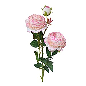 Booboda Ultra Elegant Comfort Natural Western Rose Peony Artificial Flower Fake Flower Home Gift Flower 88