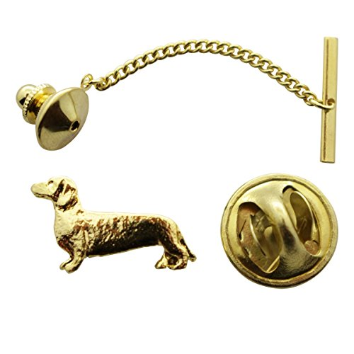 Dachshund Tie Tack ~ 24K Gold ~ Tie Tack or Pin ~ Sarah's Treats & Treasures by Sarah's Treats & Treasures (Image #1)