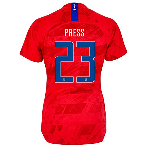 Press #23 USA Away Women's Soccer Jersey 2019/20 Red (S) ()